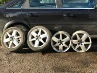 Saab 9-3 alloy wheels also fit Vauxhall