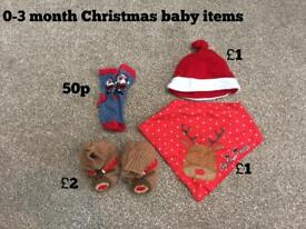 Various baby Christmas items