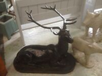 Cast Iron Deer in a Sitting Position