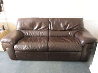Sofa bed for sale (real leather) double bed size
