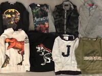 Boys Age 4-6 Bundle of Jumpers, Hoodies, along Sleeve Tops and Shirts