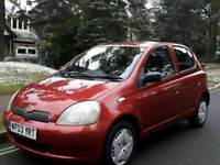 TOYOTA YARIS 1.0L T3 2003 5DOOR 1 OWNER 13 SERVICES MOT TILL18/4/2018 HPI CLEAR EXCELLENT CONDITION