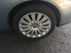"Vw Passat Vw caddy Alloywheels 17"" 235/45/17 with good tyres also fits Vw Jetta touran caddy"