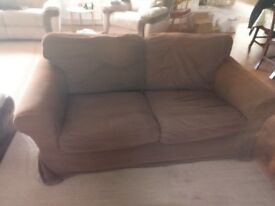 Brown Ikea EKTORP Two-seat sofa