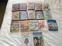 Job lot of 17 kids dvds
