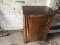Antique cabinet treadle sewing machine