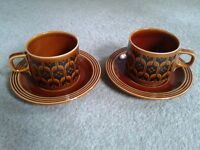 Hornsea Pottery - 2 cups & 2 saucers
