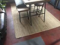 Large IKEA hessian rug