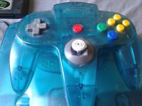 Crystal Blue Nintendo 64 for sale.