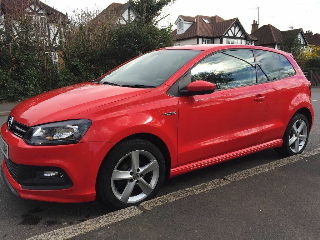 2013 r line sport vw polo cat d repaired stunning red nice looking car 34k miles in shepperton. Black Bedroom Furniture Sets. Home Design Ideas