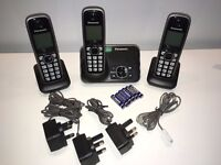 Cordless Phone Panasonic KX-TG6511E (Trio Handsets) Answering Machine