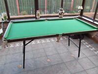 Fold-able Pool Snooker table 6ft