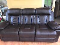Three seater leather sofa 150£