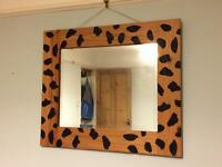 Pine animal print mirror