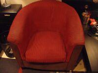 FREE! FREE! FREE! Red velvet tube armchair