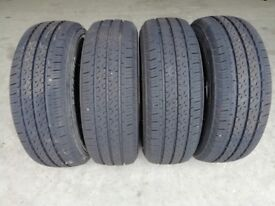 Set of 4 205x70x15C commercial tyres fitted but unused