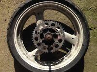 Yamaha FZR600 rear wheel