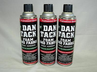 3- 10.2oz Cans Foamfabric Spray Glueadhesive Dan Tack Model 2012