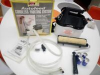 Earlex Autofeed cordless painting system battery operated, auto roller paint