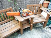 "HUSQVARNA 550XP CHAINSAW 15"" BAR AND GOOD CHAIN"