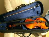 Full sized viola with case and bow