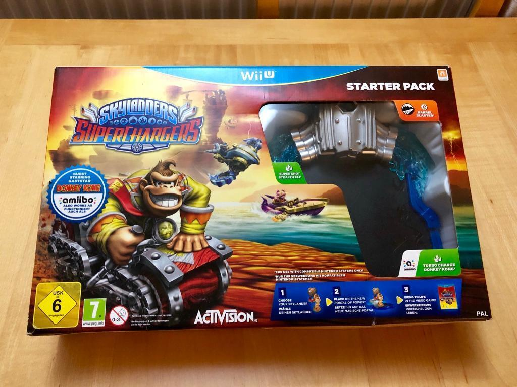 Wii U Skylanders Superchargers Starter Pack with extra figures & vehicles!