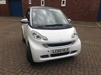 Smart Fortwo 1.0 MHD Pulse Softouch 2dr 2010 in White / Silver