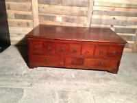 Large storage chest/coffee table/drawers
