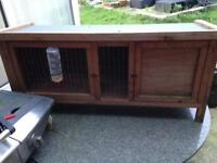 Rabbit Guinea Pig Hutch Cage Wood Small Animal