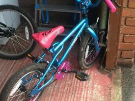 Kids pink appollo bike