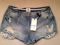 SOULCAL&CO CALIFORNIA JEANS SHORTS NEW RRP £50 BARGAIN MEDIUM