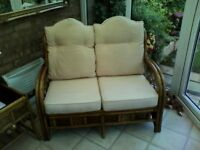 Conservatory Furniture 2 Seater settee and 2 Chairs