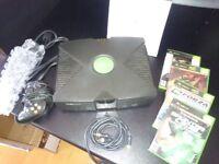 Original Microsoft X Box Games Console & games