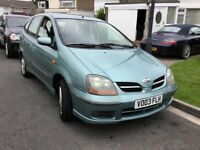 Nissan almera tino 1.8 special edition twister 2003 5 door mpv people carrier 12 months mot 2 owner