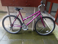 Pink girls bike found in woods, Edinburgh South