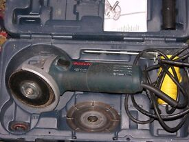 Bosch Angle Grinder plus isolator 240v to 115v to comply with regulations