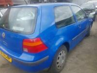 Vw golf 2003 1.4 petrol 3 door jazz blue breaking for parts
