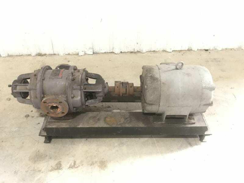 "NASH HYTOR Vacuum pump H-4 2"" Ports 1150 RPM 5 Hp 208-220/440V"