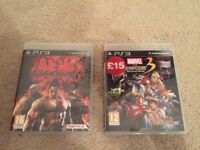 PS3 Tekken 6 - Marvel vs Capcom 3