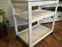 Hostess Trolley - Solid Wood & Painted White