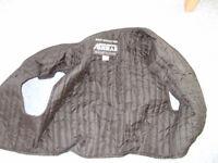 motorbike jacket, boots, gloves