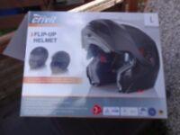 crivit motorcycle helmet gloss black