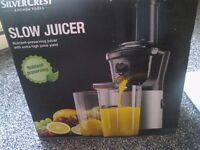 Silvercrest Slow Juicer nutrient preserving 150w NEW