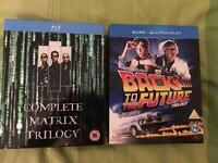 Matrix trilogy and Back to the future trilogy like new