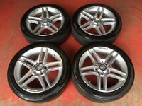 17'' GENUINE MERCEDES C CLASS SPORT AMG ALLOY WHEELS AND TYRES W204 S204