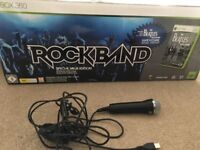 X box 360 rockband game and accessories