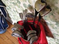 Full set of Classic RARE PING EYE (1985) golf clubs and caddy plus free accessories. £150