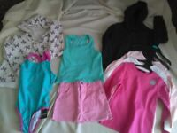 Girls clothes bundle age 5-6 Brand New swimming costume + Hoodies, long sleeve T-Shirt WILL POST