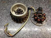 Quad / pit bike stator magneto and flywheel 2 stroke