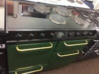 Black & green Parkinson 100cm electric cooker grill & double fan ovens with guarantee